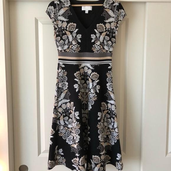 e2ce89cf2ad8 Anthropologie Dresses & Skirts - Anthropologie Soiree midi dress in black  motif